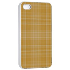Plaid Design Apple Iphone 4/4s Seamless Case (white) by Valentinaart