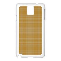 Plaid Design Samsung Galaxy Note 3 N9005 Case (white) by Valentinaart