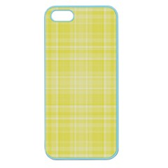 Plaid Design Apple Seamless Iphone 5 Case (color) by Valentinaart