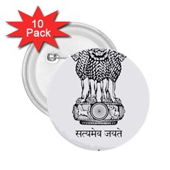 Seal Of Indian State Of Mizoram 2 25  Buttons (10 Pack)  by abbeyz71