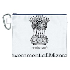 Seal Of Indian State Of Mizoram Canvas Cosmetic Bag (xxl) by abbeyz71