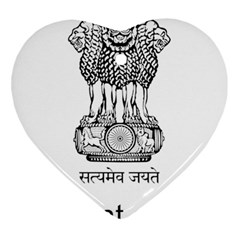Seal Of Indian State Of Mizoram Heart Ornament (two Sides) by abbeyz71