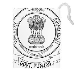 Seal Of Indian State Of Punjab Drawstring Pouches (xxl) by abbeyz71