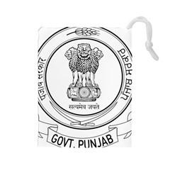 Seal Of Indian State Of Punjab Drawstring Pouches (large)  by abbeyz71