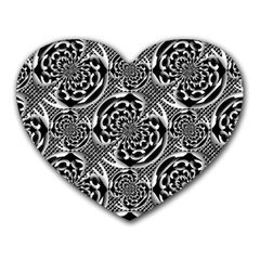 Metallic Mesh Pattern Heart Mousepads by linceazul