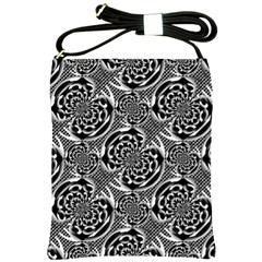 Metallic Mesh Pattern Shoulder Sling Bags by linceazul