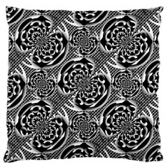 Metallic Mesh Pattern Large Cushion Case (two Sides) by linceazul