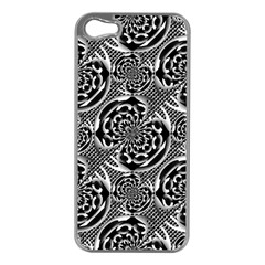 Metallic Mesh Pattern Apple Iphone 5 Case (silver) by linceazul