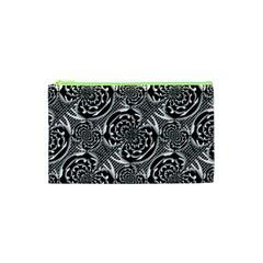 Metallic Mesh Pattern Cosmetic Bag (xs) by linceazul