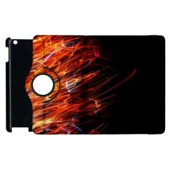 Fire Apple Ipad 3/4 Flip 360 Case by Valentinaart