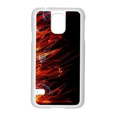 Fire Samsung Galaxy S5 Case (white) by Valentinaart