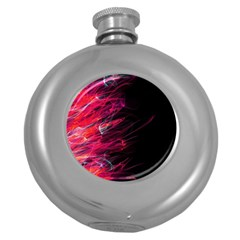 Fire Round Hip Flask (5 Oz) by Valentinaart