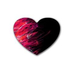 Fire Rubber Coaster (heart)  by Valentinaart