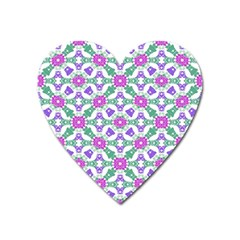 Multicolor Ornate Check Heart Magnet by dflcprints