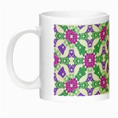 Multicolor Ornate Check Night Luminous Mugs by dflcprints
