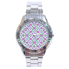 Multicolor Ornate Check Stainless Steel Analogue Watch by dflcprints