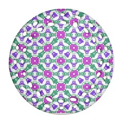 Multicolor Ornate Check Ornament (round Filigree) by dflcprints