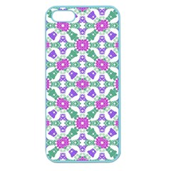 Multicolor Ornate Check Apple Seamless Iphone 5 Case (color) by dflcprints