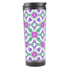Multicolor Ornate Check Travel Tumbler by dflcprints