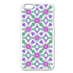 Multicolor Ornate Check Apple Iphone 6 Plus/6s Plus Enamel White Case by dflcprints