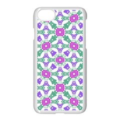 Multicolor Ornate Check Apple Iphone 7 Seamless Case (white) by dflcprints