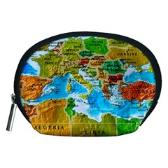 World Map Accessory Pouches (Medium)
