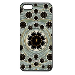 Wood In The Soft Fire Galaxy Pop Art Apple Iphone 5 Seamless Case (black) by pepitasart