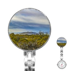 Patagonian Lanscape Scene, Santa Cruz, Argentina Stainless Steel Nurses Watch by dflcprints