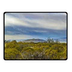 Patagonian Lanscape Scene, Santa Cruz, Argentina Double Sided Fleece Blanket (small)  by dflcprints