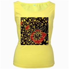 Art Batik Pattern Women s Yellow Tank Top by Gogogo