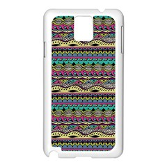 Aztec Pattern Cool Colors Samsung Galaxy Note 3 N9005 Case (White)