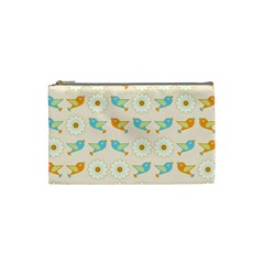 Birds And Daisies Cosmetic Bag (small)  by linceazul