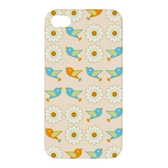 Birds And Daisies Apple Iphone 4/4s Hardshell Case by linceazul