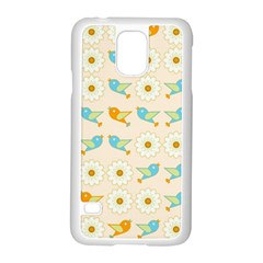 Birds And Daisies Samsung Galaxy S5 Case (white) by linceazul