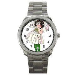 Daisy Vintage Flower Child Cute Funny Floral Little Girl Sport Metal Watch by yoursparklingshop