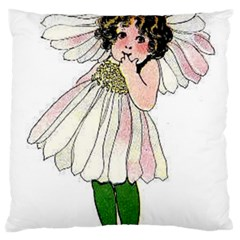 Daisy Vintage Flower Child Cute Funny Floral Little Girl Large Cushion Case (two Sides) by yoursparklingshop
