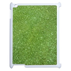 Green Glitter Abstract Texture Apple Ipad 2 Case (white) by dflcprints