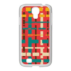 Colorful Line Segments Samsung Galaxy S4 I9500/ I9505 Case (white) by linceazul
