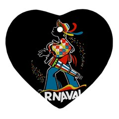 Carnaval  Heart Ornament (two Sides) by Valentinaart