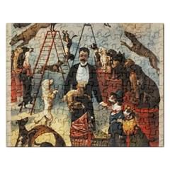 Dog Circus Rectangular Jigsaw Puzzl by Valentinaart