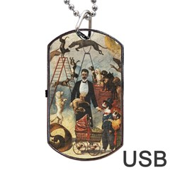 Dog Circus Dog Tag Usb Flash (two Sides) by Valentinaart