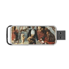 Dog Circus Portable Usb Flash (two Sides) by Valentinaart