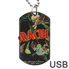 Dracula Dog Tag Usb Flash (one Side) by Valentinaart