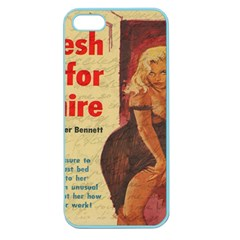 Vintage Girl Apple Seamless Iphone 5 Case (color) by Valentinaart