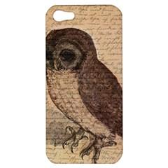 Vintage Owl Apple Iphone 5 Hardshell Case by Valentinaart