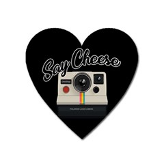 Say Cheese Heart Magnet by Valentinaart