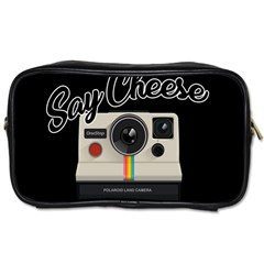 Say Cheese Toiletries Bags 2 Side by Valentinaart