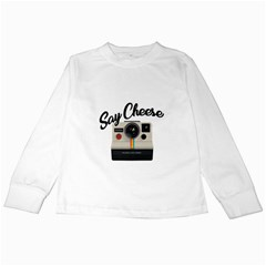 Say Cheese Kids Long Sleeve T Shirts by Valentinaart