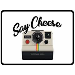 Say Cheese Fleece Blanket (large)  by Valentinaart