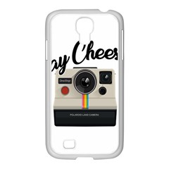 Say Cheese Samsung Galaxy S4 I9500/ I9505 Case (white) by Valentinaart
